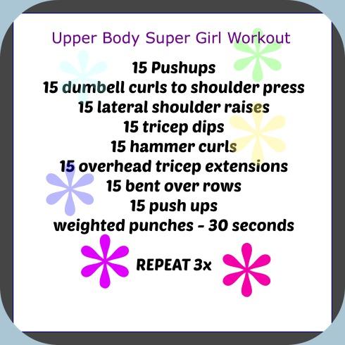 super girl workout